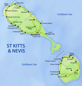 St.Kitts Nevis Map